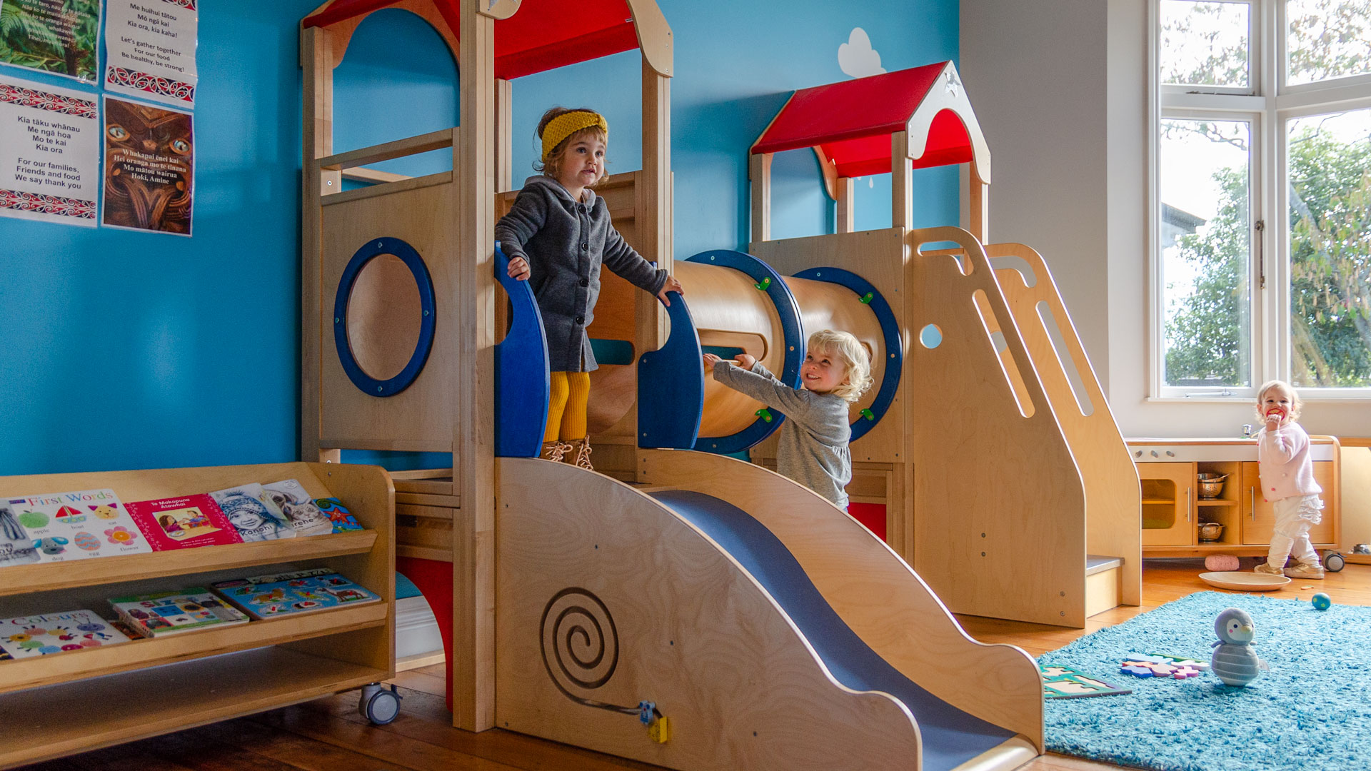 Champion Kids Mole Hole Play Loft with slide