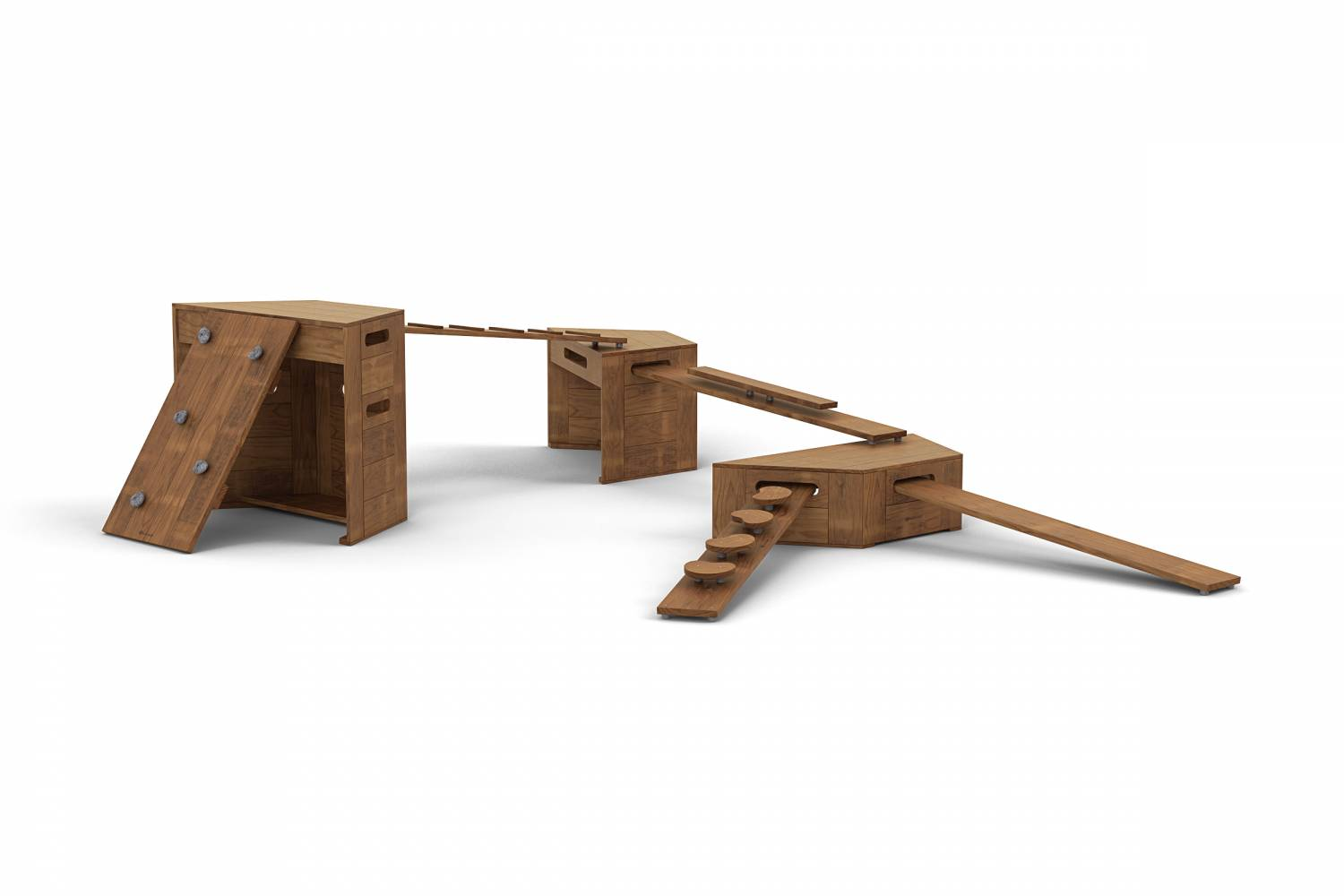 Outdorable movable climbers solid timber