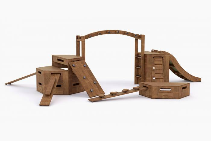 Outdorable challenge package 4 with wooden Slide